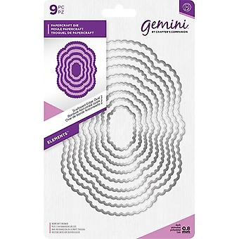 Gemini Scalloped Edge Oval 2 Elements Dies