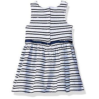 Nautica Baby Girls vzorované šaty bez rukávov, hrebenatky námorníctvo, 24M