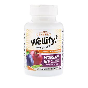 21ème siècle, Wellify Women's 50+ Multivitamine Multimineral, 65 Comprimés