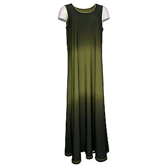 Attitudes by Renee Petite Dress Reversible Ombre Maxi Green A378334
