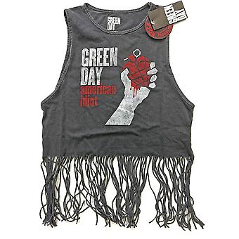 Ladies Green Day Vest American Idiot Vintage Official T-Shirt