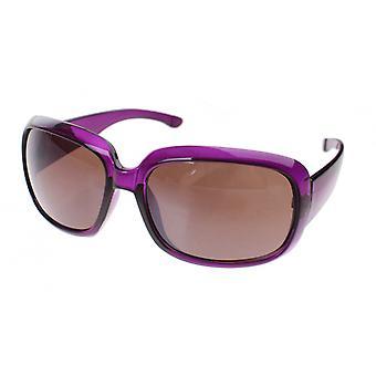 Sunglasses Women's Purple with Brown Lens (le6161)