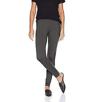 Brand - Daily Ritual Women's Ponte Knit Legging, black/white herringbo...