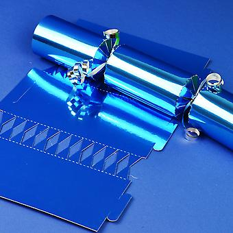 12 Blue Foil Make & Fill Your Own DIY Christmas Cracker Boards