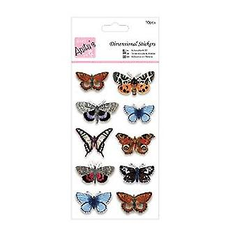 Docrafts Anitas Dimensional Stickers, Butterflies Multi-colored