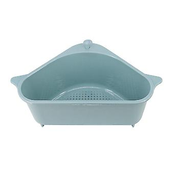 Triangle Shape Drain, Sink Storage Rack- Suction Cup Washing Bowl