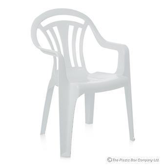 Pack de stockage Wham de 4 chaises de jardin en plastique bas de dos