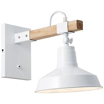 BRILLIANT Lampe Hank Væglampe Hængende Hvid Højglans   1x A60, E27, 40W, egnet til normale lamper (ikke inkluderet)