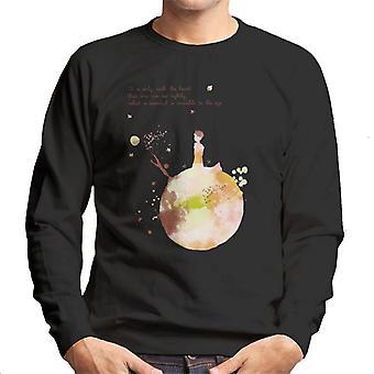 The Little Prince Autumn Colours Heart Quote Men's Sweatshirt