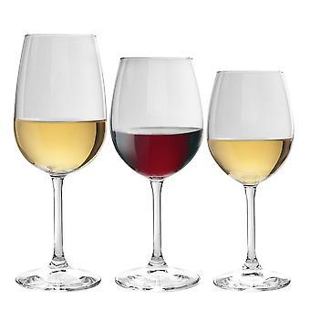 Bormioli Rocco Nadia Small, Medium and Large Wine Glasses - Lead-Free Glass - 12pc Set
