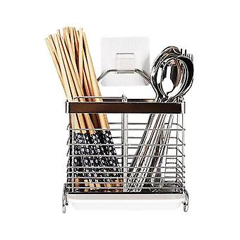 304 Stainless Steel Chopsticks Spoon Fork Cutlery Drying Rack Draining
