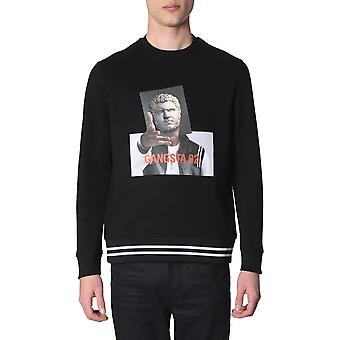 Neil Barrett Pbjs442dl548s144 Men's Black Cotton Sweatshirt