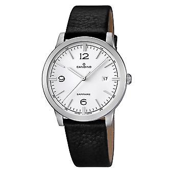 Candino Swiss C4511-1 Men's Black Leather Strap Wristwatch