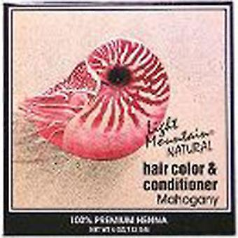 Light Mountain Natural Hair Color and Conditioner, Mahogany 4 Oz
