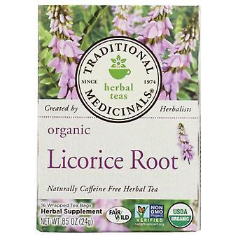 Tradycyjna herbata organiczna z korzenia lukrecji, 16 torebek