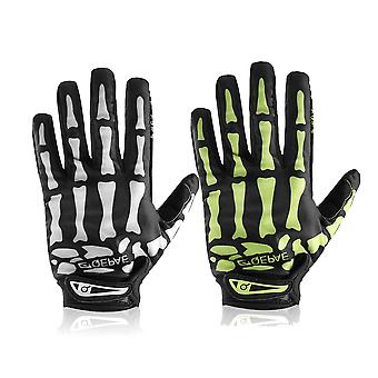 Moto Full Finger Gloves Skeleton Bone Skull Outdoor Sports Cycling Bike Gl