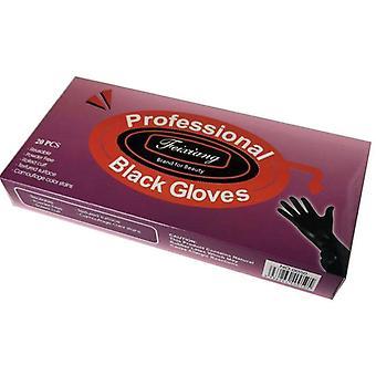 Wiederverwendbare professionelle schwarze Handschuhe Pulver frei 20pcs - klein