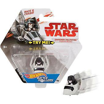 Hot Wheels Star Wars Battle Rollers - Împăratul Palpatine Imperial Shuttle