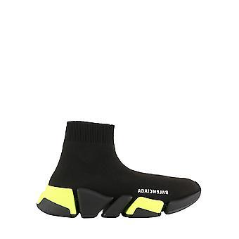Balenciaga 617196w17201171 Kvinder's Black Fabric Hi Top Sneakers