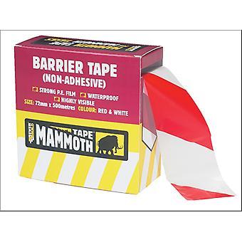 Everbuild Mammoth Hazard Tape Red/ White 72mm x 500m