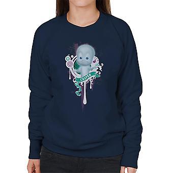 Casper The Friendly Ghost School Emblem Women's Sweatshirt