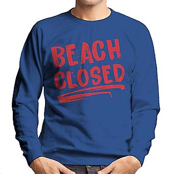 Jaws Beach Closed Men's Sweatshirt