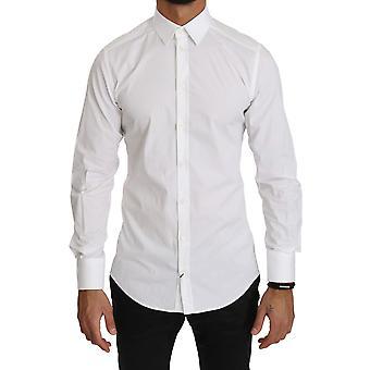 Dolce & Gabbana Valkoinen Slim Fit Mekko Muodollinen paita
