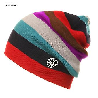 Winter Men Ice Skating Cap Rainbow Snowboard Hat, Odkryty Double Knit Warm Ski