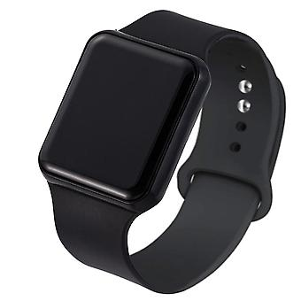 Reloj digital deportivo, mujeres / hombres cuadrado Led reloj de silicona reloj electrónico