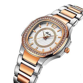 Geneve Designer, Luksus Brand, Diamond Quartz, Guld Armbåndsur