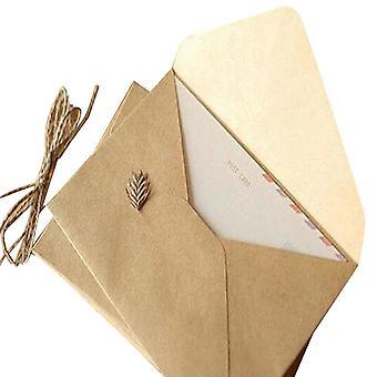 Rough Grain Card, Envelopes de papel Kraft multifuncionais para casamento, aniversário