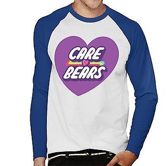 Care Bears Desbloqueiam A Magic Purple Heart Men''s Baseball Long Sleeved T-Shirt