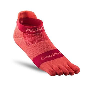 Athletic Toe Quarter Socks For Five-toed, Barefoot Running Shoes