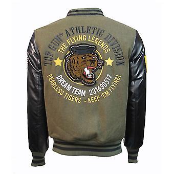Top Gun Tiger Wool-PU Jacket Green