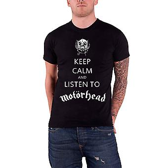 Motorhead Keep Calm and Listen To Motorhead Official Mens New Black T Shirt