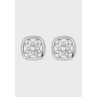 Kalevala Earrings Women's Filigree 14K White Gold 1607553TV