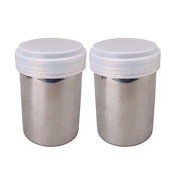 2 Pieces Flour Sifter Icing Sugar Dredger Chocolate Powder Shaker 8x12cm