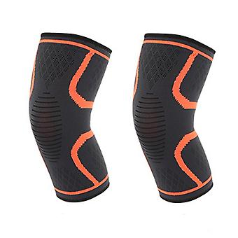 XL Size Orange 27cm Nylon Latex Spandex Professional Protective Sports knee Pads