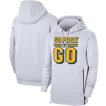 Green Bay Packers Men's Sideline Local Performance Pullover Hoodie Top WYX054