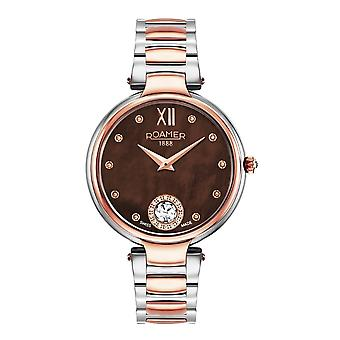Roamer 600843 49 69 50 Two Tone Aphrodite Brown Mother Of Pearl Dial Wristwatch