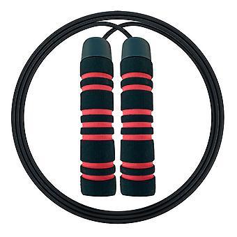Foam handle adjustable racing skipping rope