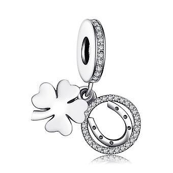 Šperky Palace Leaf Clover 925 Sterling Strieborné korálky Charms náramok