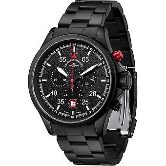 Zeno-Watch - Wristwatch - Men - Speed Navigator Chronograph black-red - 6751-5030Q-bk-1-7M