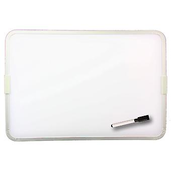 """Two-Sided Aluminum Framed, Magnetic Dry Erase Board W/Pen, 9"""" X 12"""""""