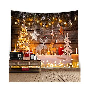 Durable Fabric Christmas Fireplace Photography Backdrop Stockings Party Decorations
