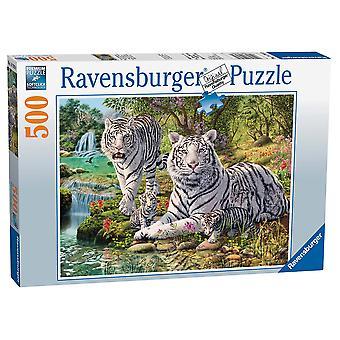 Ravensburger Legpuzzel Witte Tijgers 500 stukjes