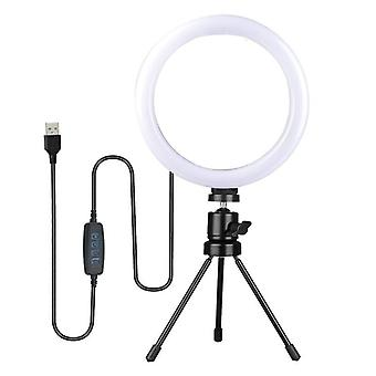 7/11inch Dimmable Led Selfie Ring Light com suporte de tripé