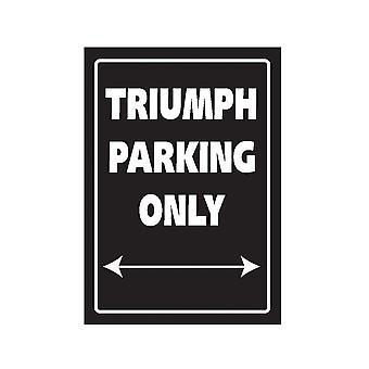 Panneau de stationnement en aluminium Bike It - Triumph Parking Only