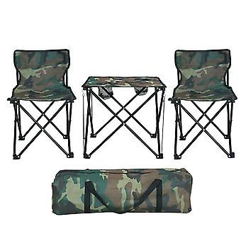 ポータブル軽量折りたたみキャンプテーブルチェアガーデンセット