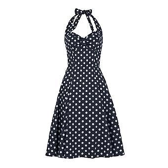 Collectif Vintage Women's 1950's Joanna Navy Polka Dot Dress